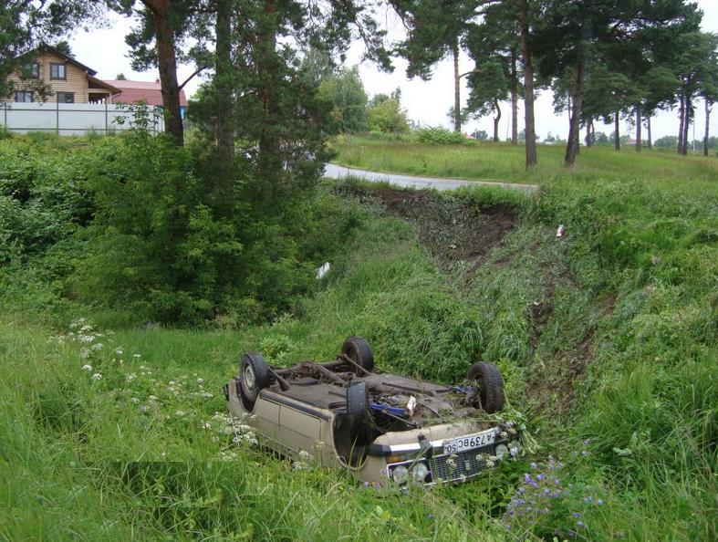 QIP Shot Screen 003 В Ступинском районе ВАЗ съехал в кювет и перевернулся