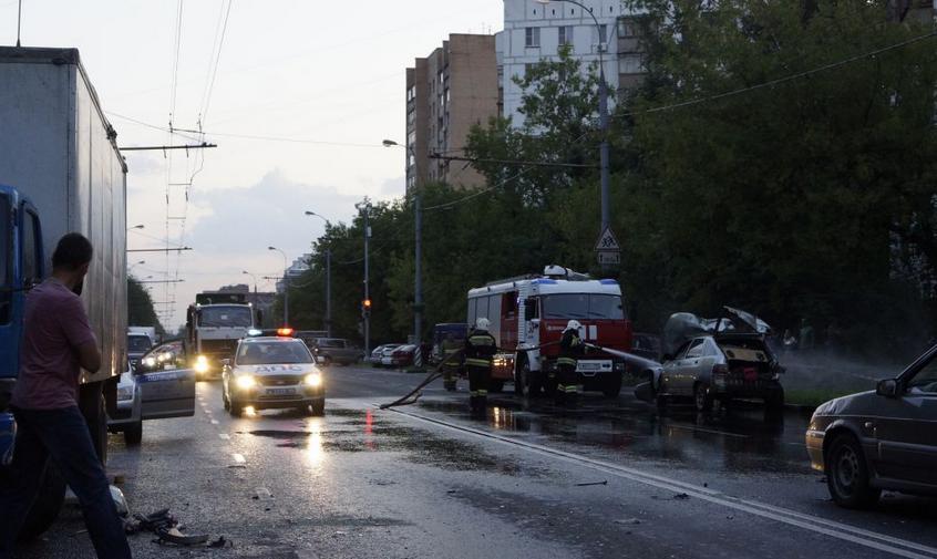 QIP Shot Screen 095 Авария с участием пьяного водителя произошла на Юго Востоке Москвы