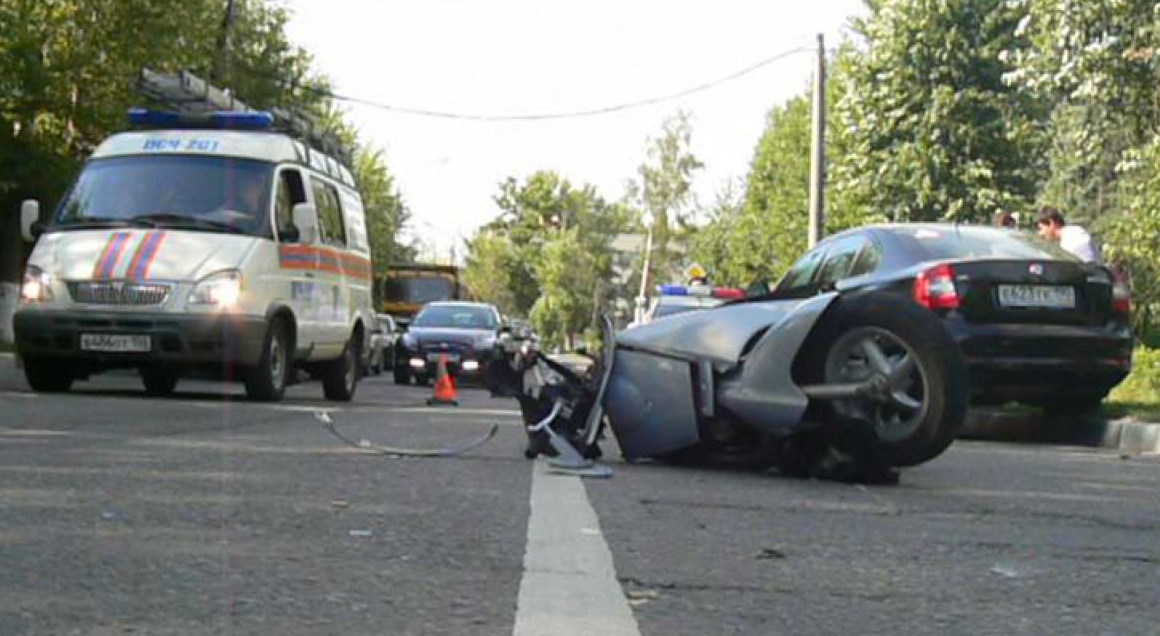 QIP Shot Screen 394 Пьяный скутерист влетел в лоб встречного авто