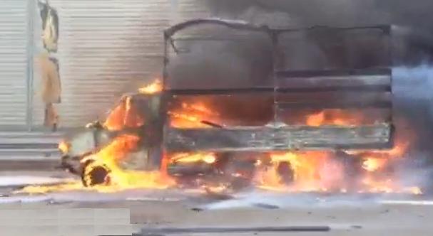 QIP Shot Screen 584 На Новорижском шоссе в Москве произошло возгорания автомобиля