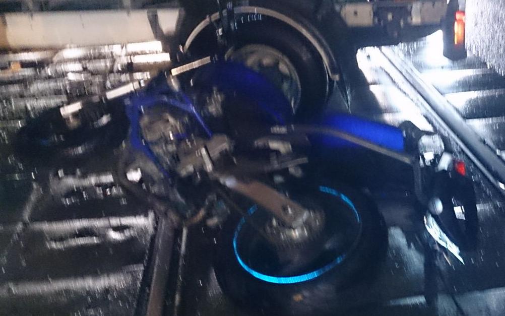 QIP Shot Screen 602 В Ростокинском проезде в Москве иномарка столкнулась с мотоциклом