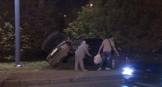 На Ленинградском шоссе произошла серьезная авария с участием пьяного водителя фото