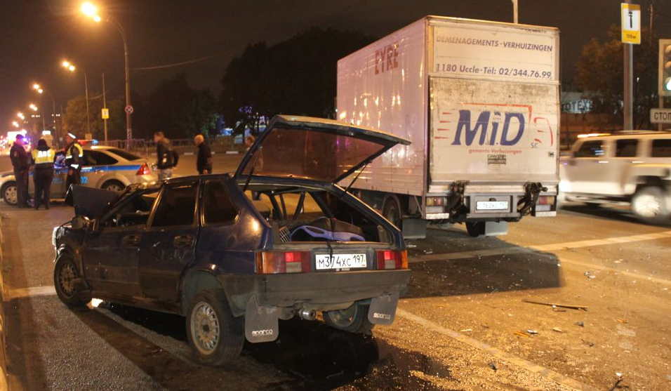 QIP Shot Screen 677 На улице Подольских Курсантов в Москве произошла автомобильная авария
