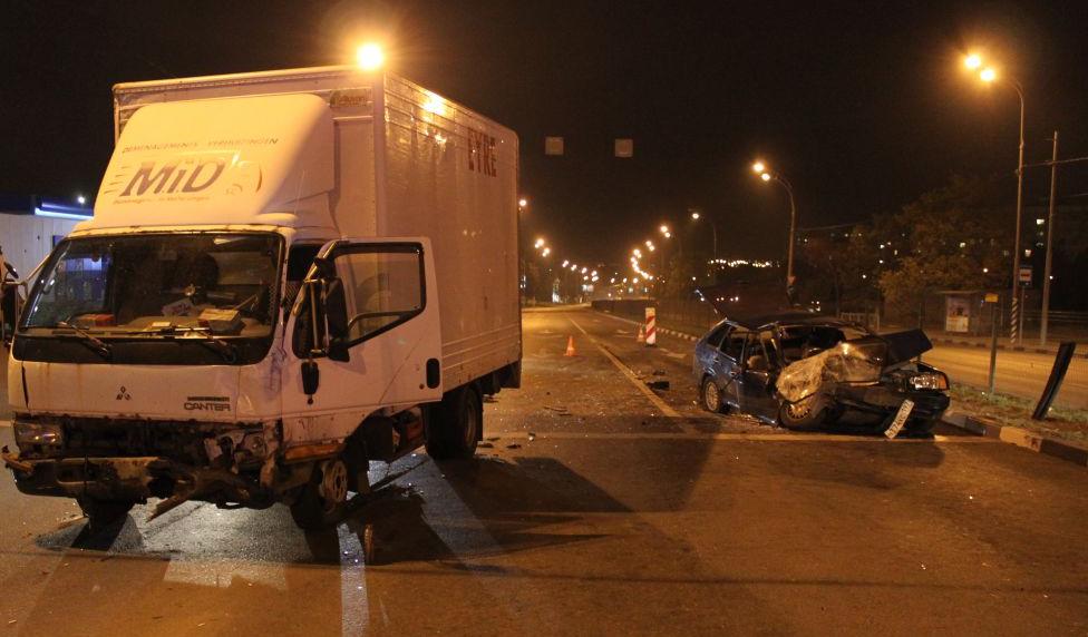 QIP Shot Screen 678 На улице Подольских Курсантов в Москве произошла автомобильная авария