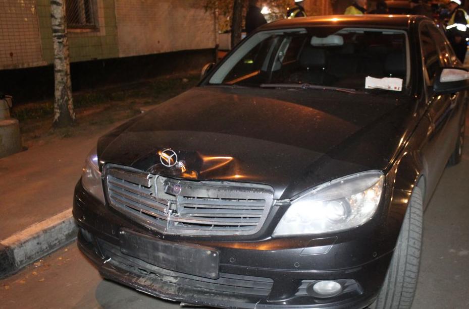 QIP Shot Screen 835 В Москве иномарка протаранила полицейский мотоцикл