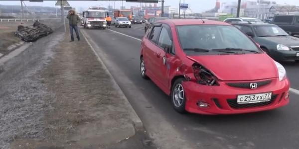dtp v moskve mkad 1 Авария на 79 м км МКАД в Москве ,повреждено два автомобиля