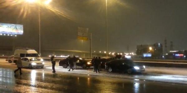 ДТП на МКАД в Москве, столкновение 12 машин фото