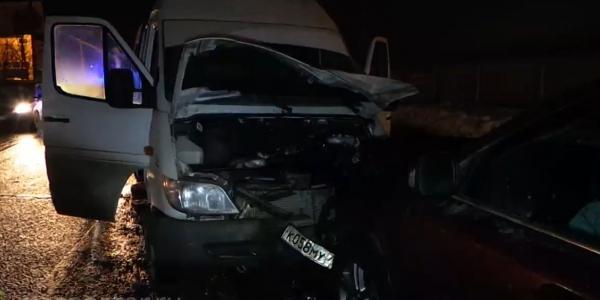 ДТП в Московской области на Каширском шоссе, лобовое столкновение фото