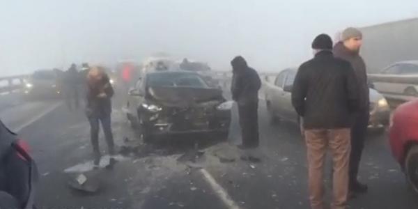 ДТП сегодня в МО, г.Жуковский, столкнулось более десяти машин фото