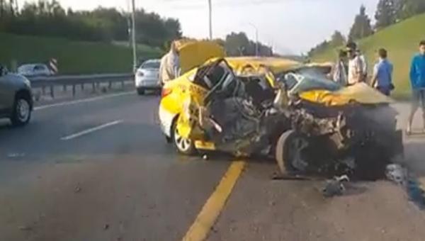 Авария такси в Домодедово фото