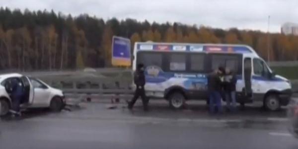 dtp kievskom 2 ДТП в Москве на Киевском шоссе есть пострадавший